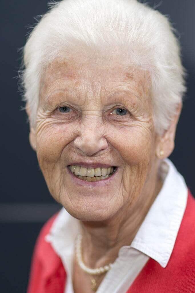 Porträt von alter Frau