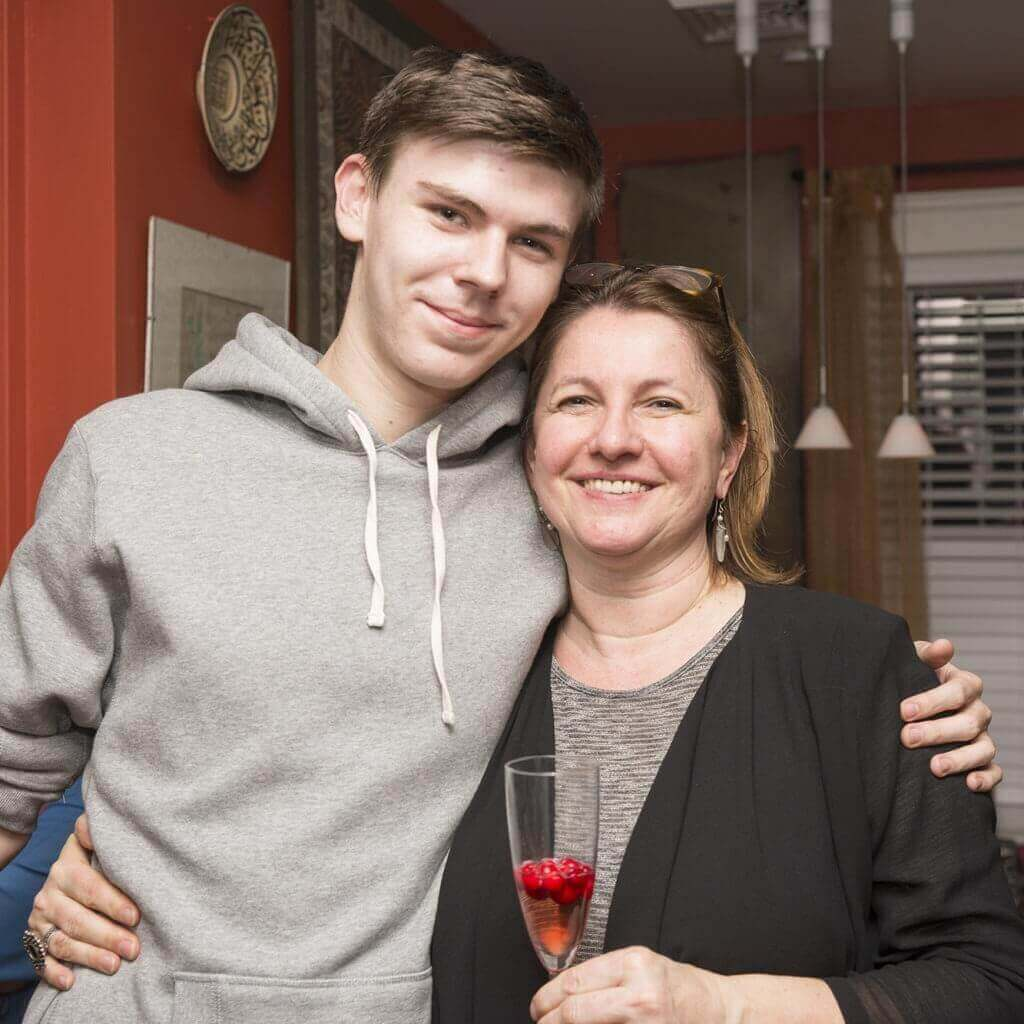 Frau mit Sohn